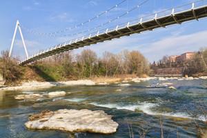 Ponte-passerella sul fiume Reno