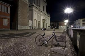 Piazza e bici