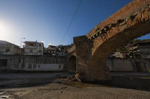 Ponte vecchio sulla fiumara a Gualtieri