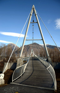 Un bel ponte tra Sondrio e Albosaggia