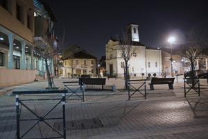 Di notte in Piazza Alfieri