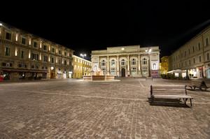 In Piazza del Popolo a Pesaro