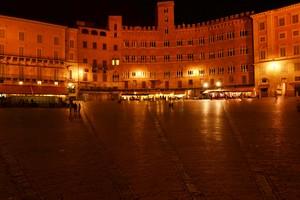 Piazza del Campo in notturna