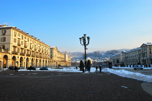 Piazza Vittorio innevata