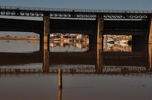 sotto il ponte Giorgini…