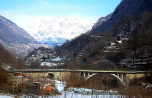 Un ponte sul Mallero in Valmalenco
