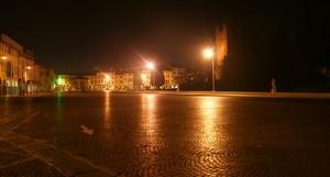 Piazza Giorgione deserta