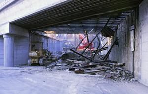 Smantellamento del vecchio ponte di ferro, 1987