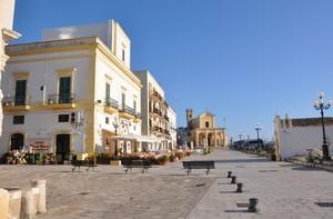 La Piazza A. Moro di Gallipoli
