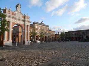 La piazza di Santarcangelo