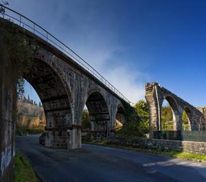 Il ponte della circumetnea con acquedotto a Nunziata di Mascali