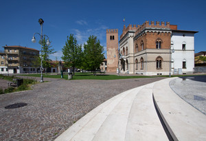 Piazza Roma dopo la pioggia