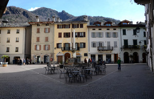Piazza Pestalozzi a Chiavenna