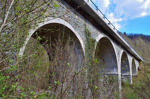 ponte sulla 355 della val degano