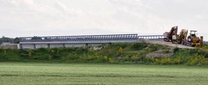 Lavori al ponte della SP 74 sul Candelaro