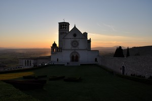 Sunset behind the holy church