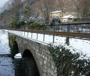 Passaggio della ferrovia presso i fontanazzi