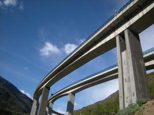 Chiomonte, il viadotto dell'autostrada