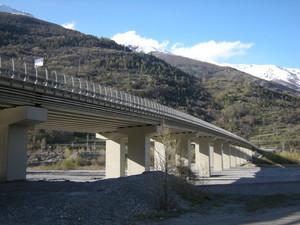Salbertrand, il viadotto dell'autostrada