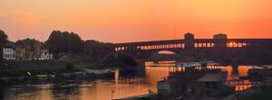 Un romantico tramonto a Pavia