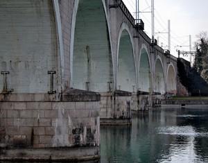 Il Ponte ferroviario  sul Mincio.