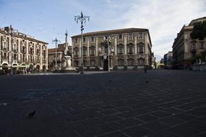 Rondini a piazza Duomo.