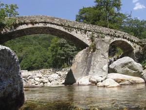 """Punt a dla Cua"" antico ponte a  Piedicavallo, 2, alta Valle Cervo"