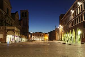 Piazza Trento e Trieste in blu