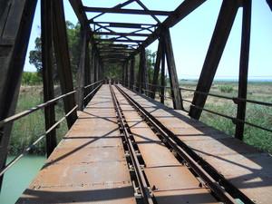 Vecchio ponte della ferrovia Castelvetrano-Agrigento sul fiume Belice