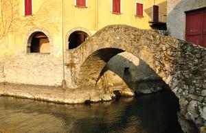 Ponte della Civera, tramonto