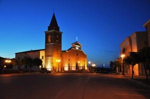Largo e Chiesa di S. Maria delle Grazie nell'ora blu