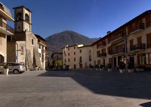 Piazza Stefano Quadrio a Chiuro