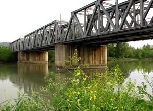 Ponte ferroviario sul fiume Arno