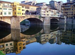 Gioco di specchi al Ponte Vecchio