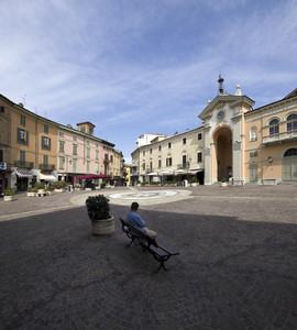 Piazza Garibaldi a Moncalvo