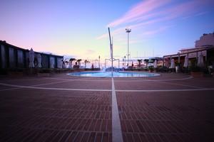 Piazza del Porto al tramonto