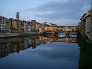 Il Ponte Vecchio dopo il temporale