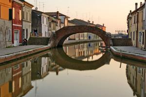 Acquerello a Comacchio