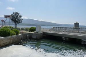 ''ponte-diga sulla laguna con mulino di origine spagnola'' - Orbetello