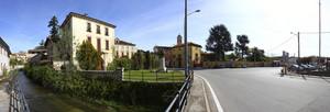 Panoramica di piazza Ferrarin, Suno