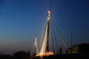Il ponte illuminato