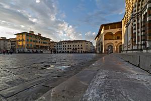 La piazza  del duomo dopo la pioggia