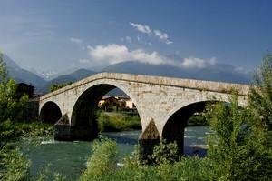 ponte di Ganda sull'Adda in frazione Campovico