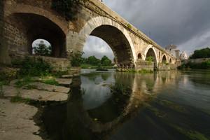 Ponte Milvio sole e nuvole