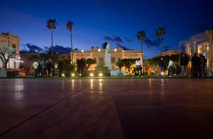 Piazza Vittorio Emanuele al calar della sera