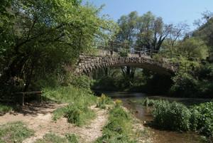 Cerreto di Spoleto (PG): ponte della ex ferrovia Spoleto-Norcia