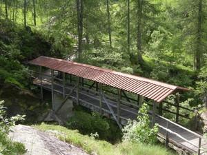 Alagna, ponte coperto