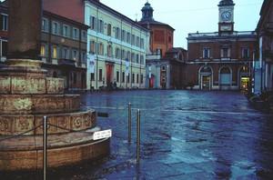 Pioggia in Piazza del Popolo