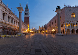 Alba in Piazzetta San Marco