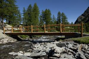 Ponte di legno ad Arpy